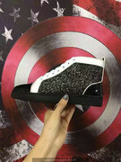 Louboutin Black High Top Sneakers CLHT479