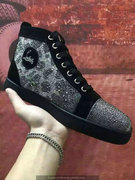 Louboutin Black High Top Sneakers CLHT480