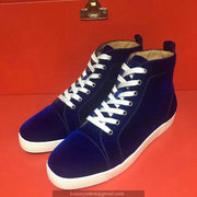 Louboutin Deep Blue High Top Sneakers CLHT518
