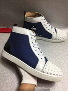 Louboutin Deep Blue Lou Spikes Sneakers CLHT520