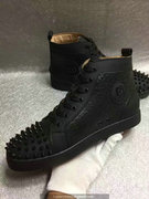 Louboutin Black Lou Spikes Sneakers CLHT521