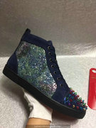 Louboutin Deep Blue Lou Spikes Sneakers CLHT522