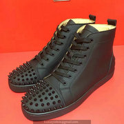 Louboutin Black Lou Spikes Sneakers CLHT524