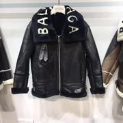 Balenciaga Leather Coat rBalen067