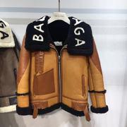 Balenciaga Leather Coat rBalen068