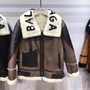 Balenciaga Leather Coat rBalen069